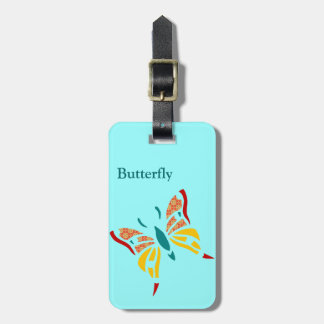 Fun and Colorful Butterfly Luggage Tag