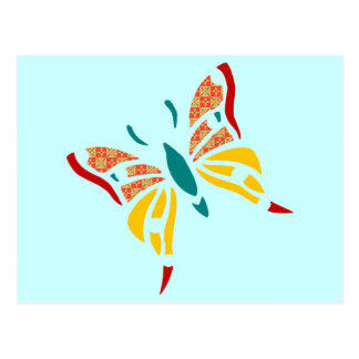 Fun and Colorful Butterfly Postcard