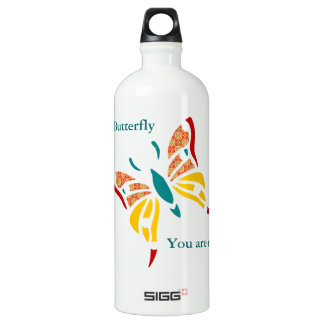 Fun and Colorful Butterfly Water Bottle