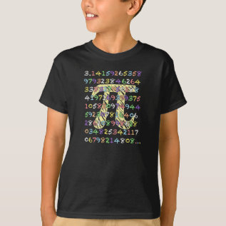 Fun And Colorful Chalkboard-style Pi Calculated T-shirt at Zazzle