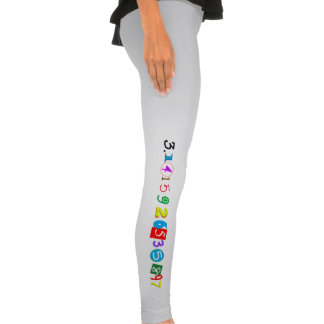 Fun and Colorful Digits of Pi Legging Tights