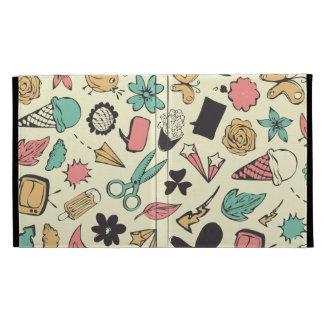 Fun and Colorful Doddles design iPad Folio Case
