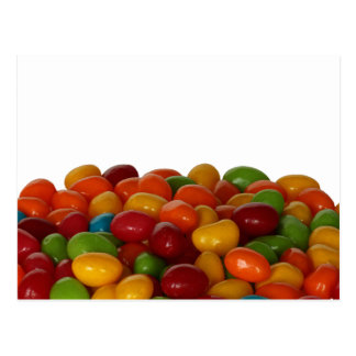 Fun and colorful jelly beans postcard