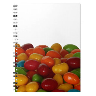 Fun and colorful jelly beans spiral notebook