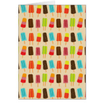 Fun and Colorful Popsicles Retro Pattern