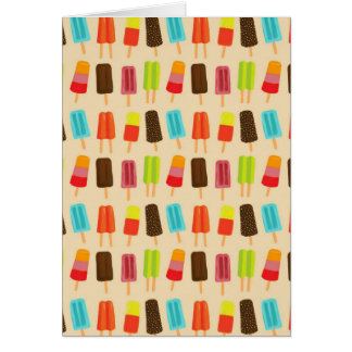 Fun and Colorful Popsicles Retro Pattern Card