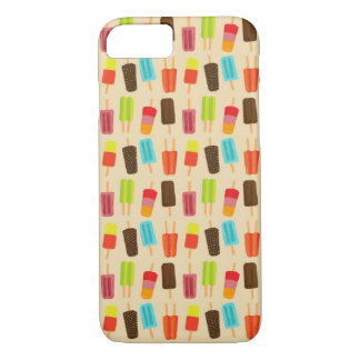 Fun and Colorful Popsicles Retro Pattern iPhone 8/7 Case