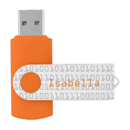 Fun and Cool Binary Code Personalized Flash Drive