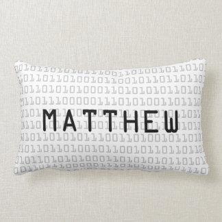 Fun and Cool Binary Code Personalized Lumbar Pillow