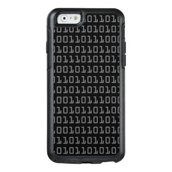 Fun And Cool Computer Binary Code Pattern Otterbox Iphone 6/6s Case by judgeart at Zazzle