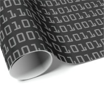 Fun and Cool Computer Binary Code Pattern Wrapping Paper