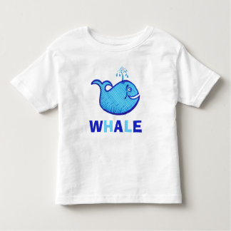 Fun and Cute Light Blue Whale Toddler T-shirt