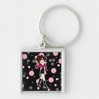 Fun and Cute Little Cartoon Diva Keychain