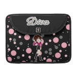 Fun and Cute Little Cartoon Diva Sleeves For MacBook Pro