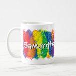 Fun and Cute Rainbow of Colors Personalized Coffee Mug