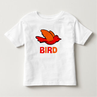 Fun and Cute Red and Orange Bird Flying Toddler T-shirt