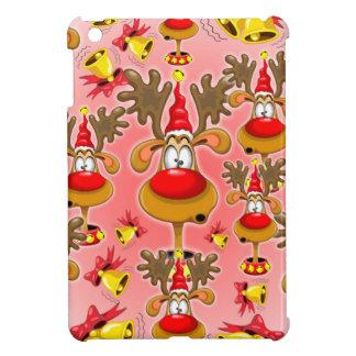 Fun and cute Reindeer Cartoon looking shocked and iPad Mini Cover