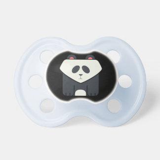 Fun and Cute Square Panda Bear on Black BooginHead Pacifier