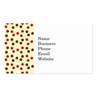 Fun and Earthy Geometic Pattern Business Card