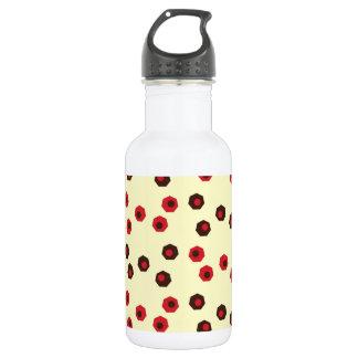 Fun and Earthy Geometic Pattern Water Bottle