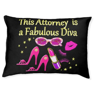 Lawyer Themed FUN AND FABULOUS ATTORNEY DIVA DESIGN PET BED