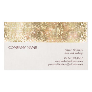 Fun and Festive Girly Gold Sparkly Sequin Double-Sided Standard Business Cards (Pack Of 100)