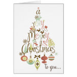 Fun and Festive Holiday Tree Merry Christmas Card