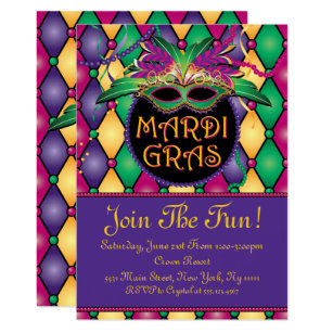 New Orleans Theme Party Invitations Announcements Zazzle