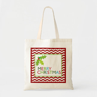 Fun and Festive Merry Christmas Holiday Tote Bag