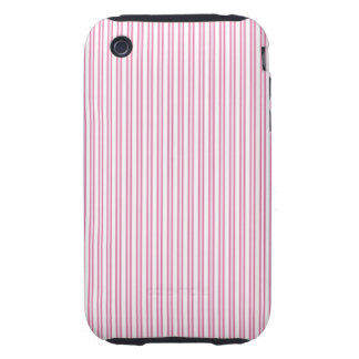 Fun and Festive Pink Pin Striped Pattern iPhone 3 Tough Cover