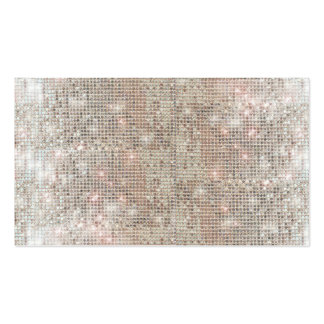 Fun and Festive Silver Sequin Business Card