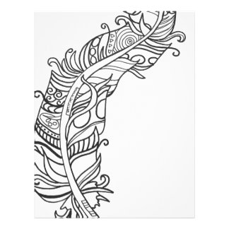 Fun and Funky Feather Series Letterhead