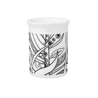 Fun and Funky Feather Series Pitcher