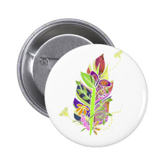 Fun and Funky Pollinator Inspired Nature Feather Button