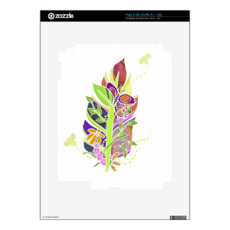 Fun and Funky Pollinator Inspired Nature Feather Decals For iPad 2