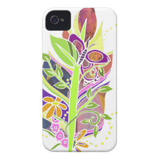Fun and Funky Pollinator Inspired Nature Feather iPhone 4 Cover