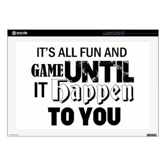 "fun and game design 17"" laptop skin"