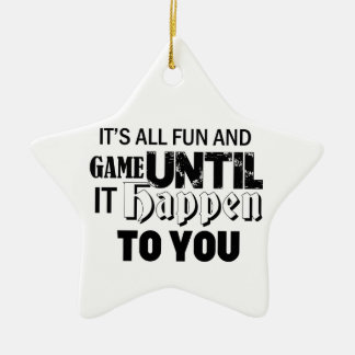 fun and game design ceramic ornament