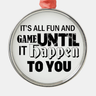 fun and game design metal ornament