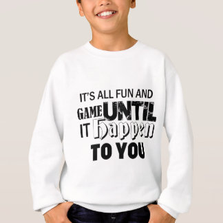 fun and game design sweatshirt