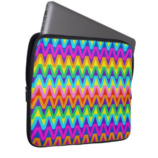 Fun and Happy Tropical Colors Chevron Pattern Computer Sleeves