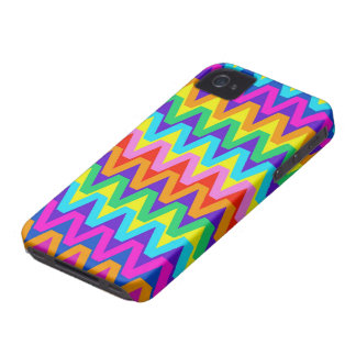 Fun and Happy Tropical Colors Chevron Pattern iPhone 4 Case