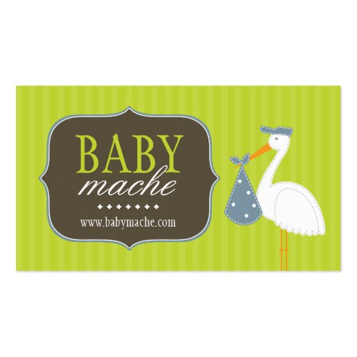 Fun and Modern Baby Boutique Business Cards