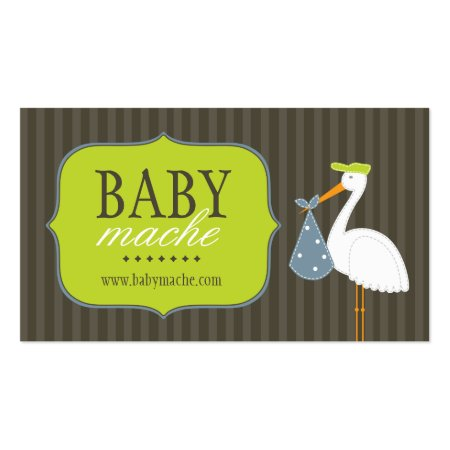 Cute Stalk Holding Baby Bundle Fun Modern Boutique Calling Cards