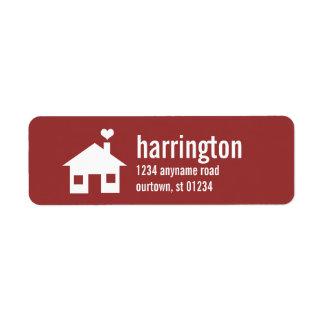 Fun and Modern Custom (red) Address Label