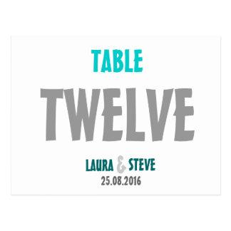 Fun and Modern Wedding Table Number Postcard