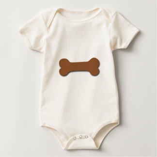Fun and Playful Dog Bone Themed Gift BROWN V02 Baby Bodysuit