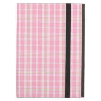Fun and Pretty Pink Summer Time Plaid Pattern Cover For iPad Air