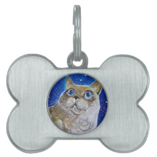 Fun and Sassy Cat Portrait Pet ID Tag