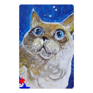 Fun and Sassy Cat Portrait Stationery